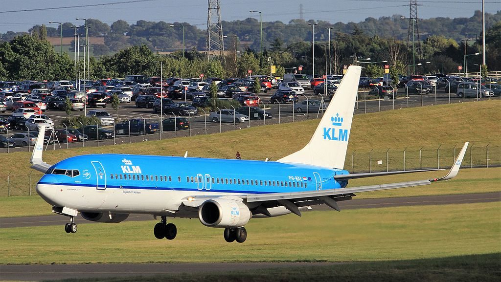 PH BXL Boeing 737 806 KLM Sperwer Sparrow Hawk at Birmingham
