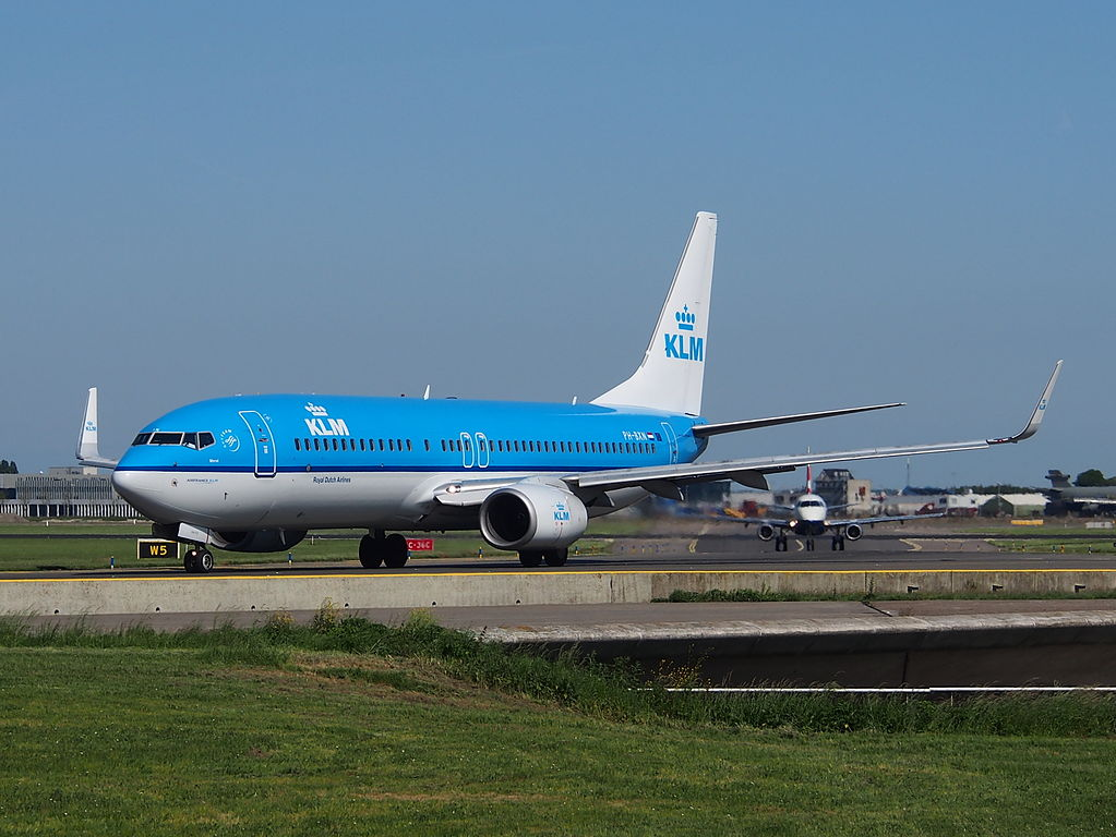 PH BXN KLM Royal Dutch Airlines Boeing 737 8K2WL cn 30356 Merel Blackbird taxiing at Schiphol