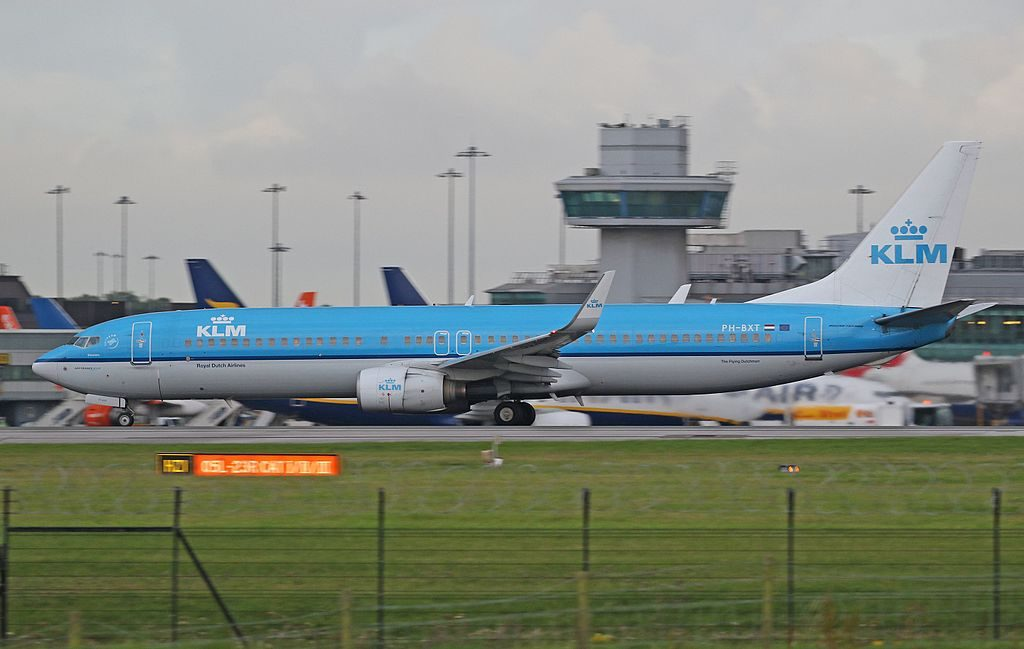 PH BXT Boeing 737 900 of KLM Zeestern Sea Tern at Manchester Airport