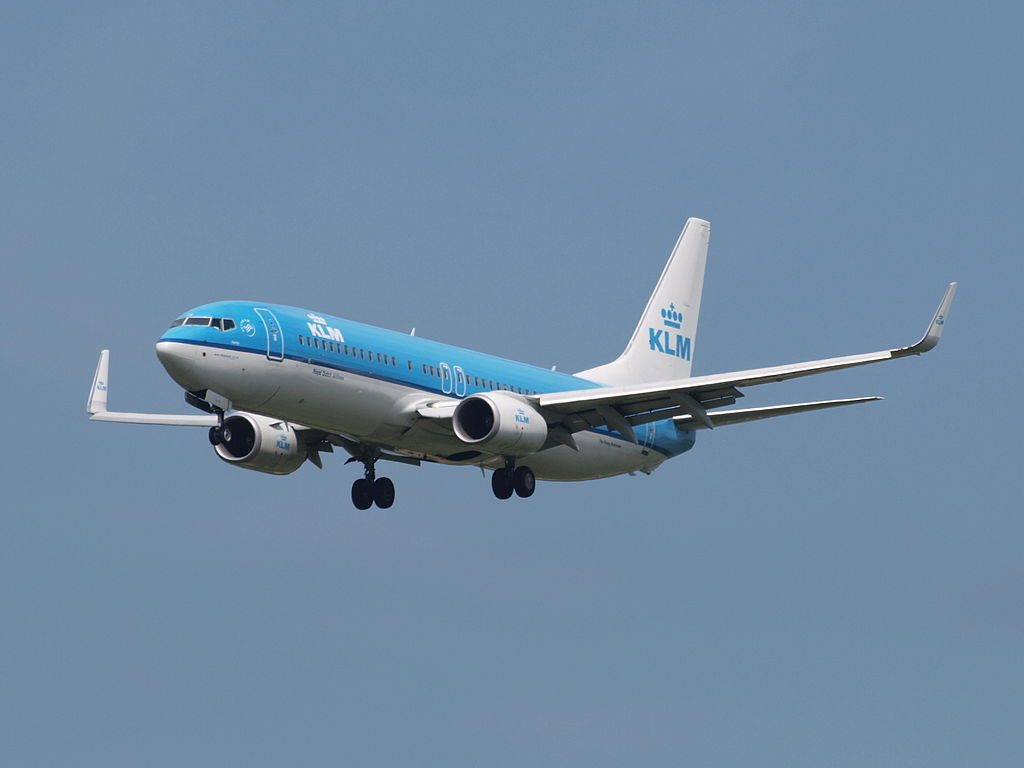 PH BXW KLM Royal Dutch Airlines Boeing 737 8K2WL Patrijs Partridge on final at Amsterdam Airport Schiphol