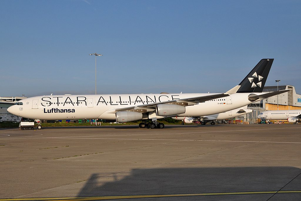 Passau D AIFE Airbus A340 313X Lufthansa Star Alliance Livery at Dublin Airport Ireland