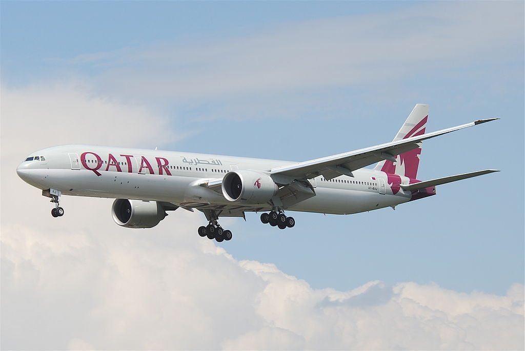 Qatar Airways Boeing 777 3DZER A7 BAJ at Frankfurt Airport FRA