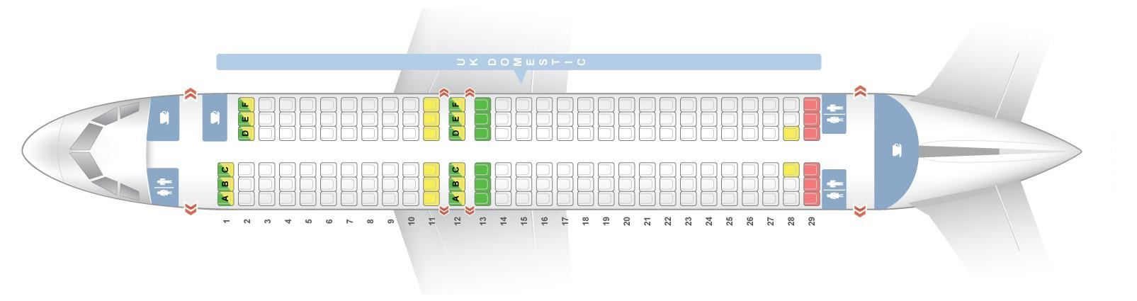 Seat Map And Seating Chart Airbus A320 200 Uk Domestic V2 British Airways