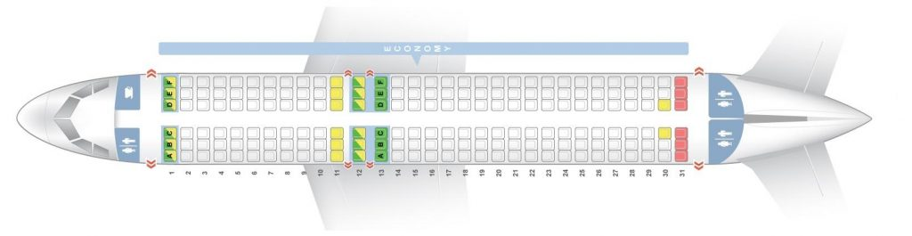 Seat Map and Seating Chart Airbus A320 200 V2 easyJet