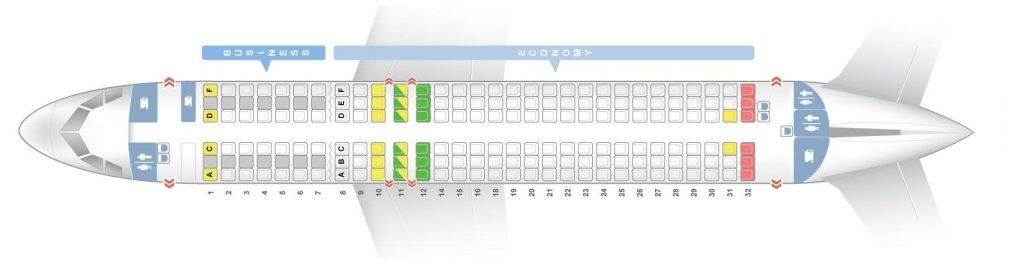 Seat Map and Seating Chart Airbus A320neo Lufthansa