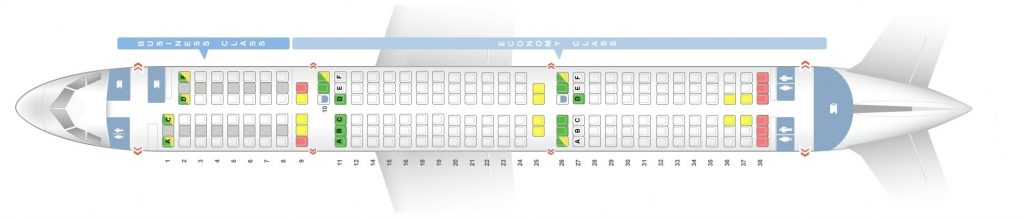 Seat Map and Seating Chart Airbus A321 200 Lufthansa