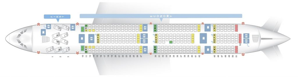 Seat Map and Seating Chart Airbus A380 800 Lower Deck Air France
