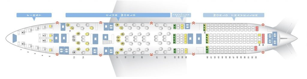 Seat Map and Seating Chart Boeing 747 400 V3 Lower Deck British Airways