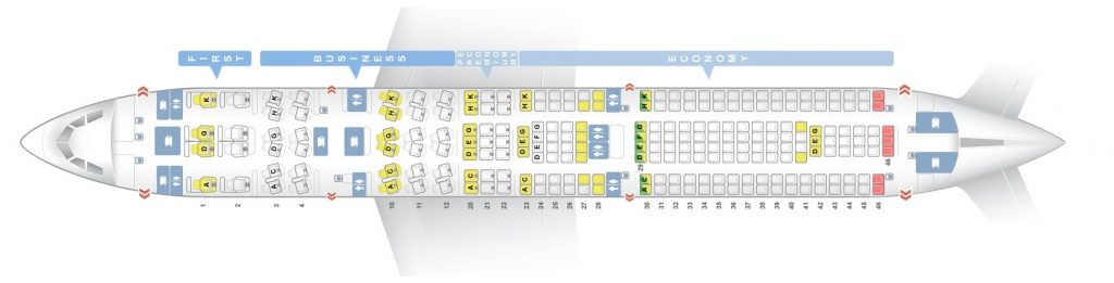 Seat Map and Seating Chart Lufthansa Airbus A330 300 Four Class Layout V1