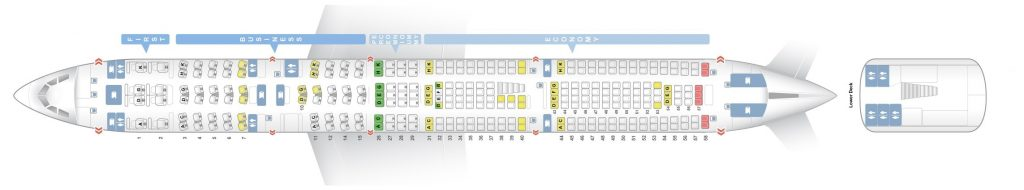 Seat Map and Seating Chart Lufthansa Airbus A340 600 Four Class Layout V2