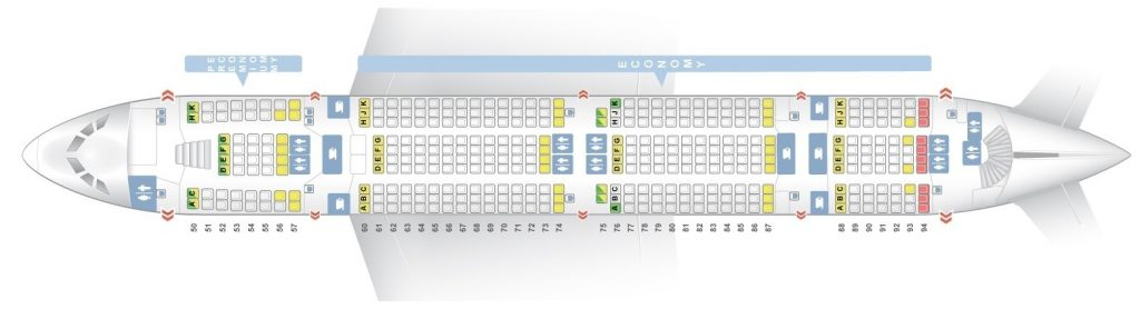 Seat Map and Seating Chart Lufthansa Airbus A380 800 Lower Deck
