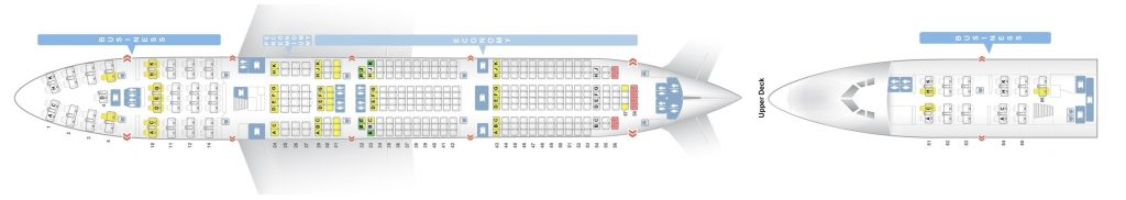Seat Map and Seating Chart Lufthansa Boeing 747 400 Three Class Layout V2