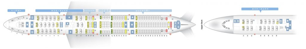 Seat Map and Seating Chart Lufthansa Boeing 747 8I Four Class Layout V1
