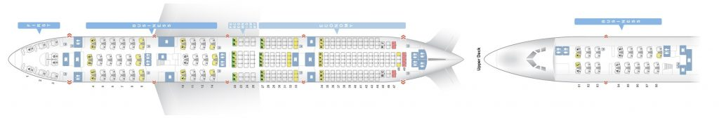 Seat Map and Seating Chart Lufthansa Boeing 747 8I Four Class Layout V2