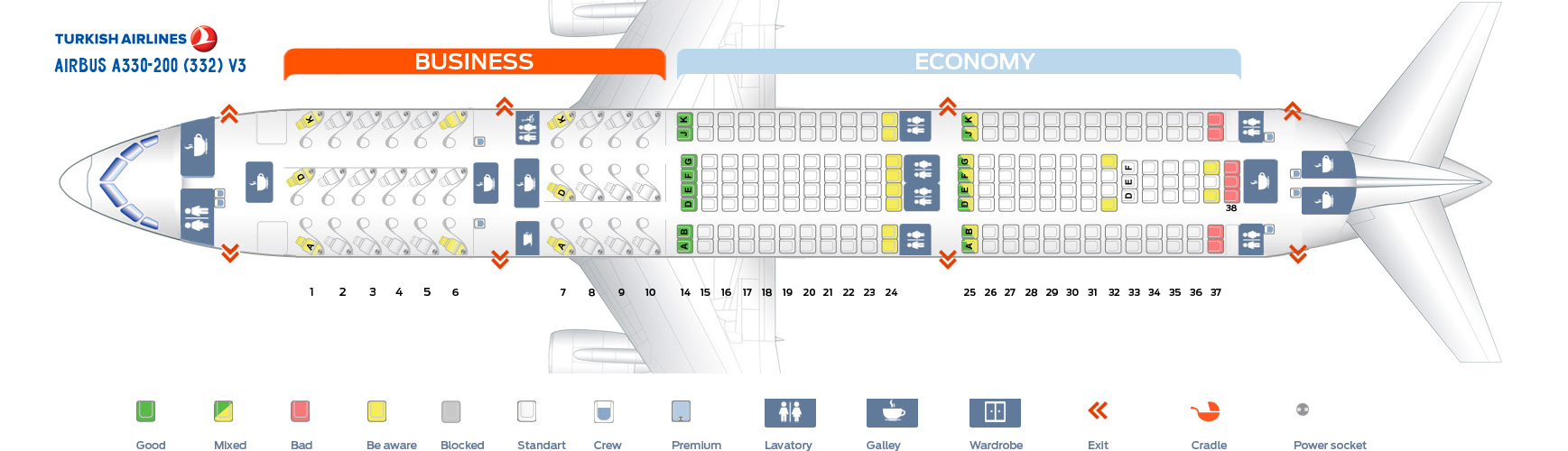 Airbus A330 200 Seating American Airlines Elcho Table