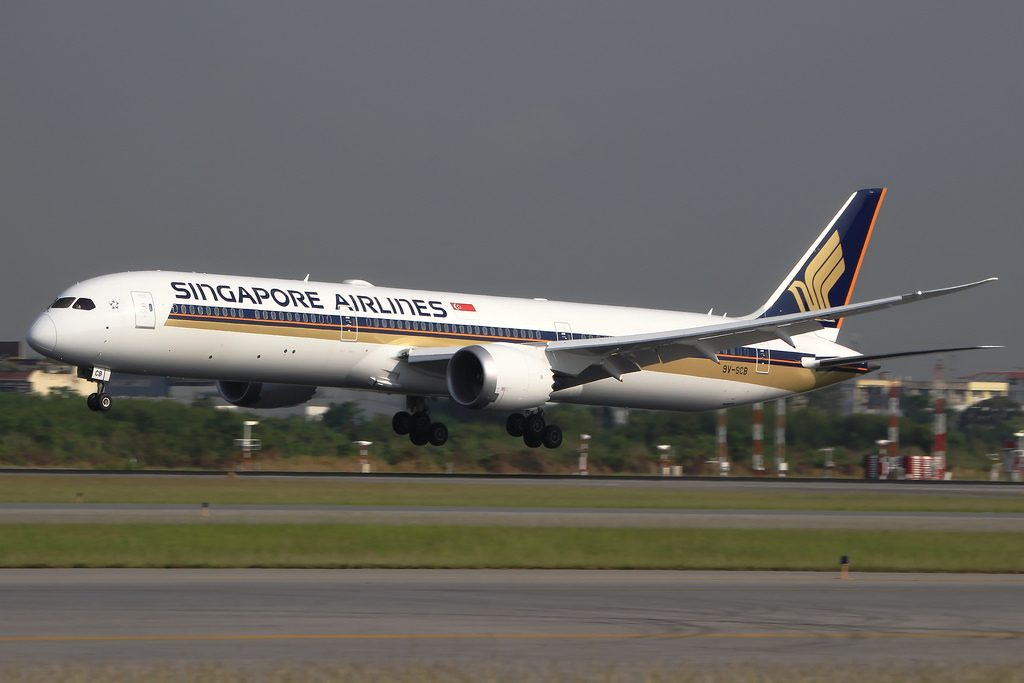 Singapore Airlines 9V SCB Boeing 787 10 Dreamliner at Bangkok Suvarnabhumi Airport