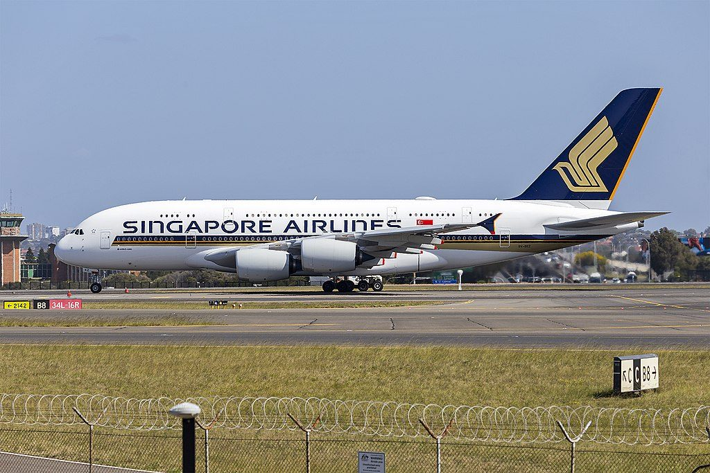 Singapore Airlines 9V SKZ Airbus A380 841 at Sydney Airport