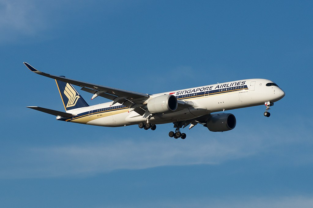 Singapore Airlines Airbus A350 900 9V SMG at Melbourne Airport