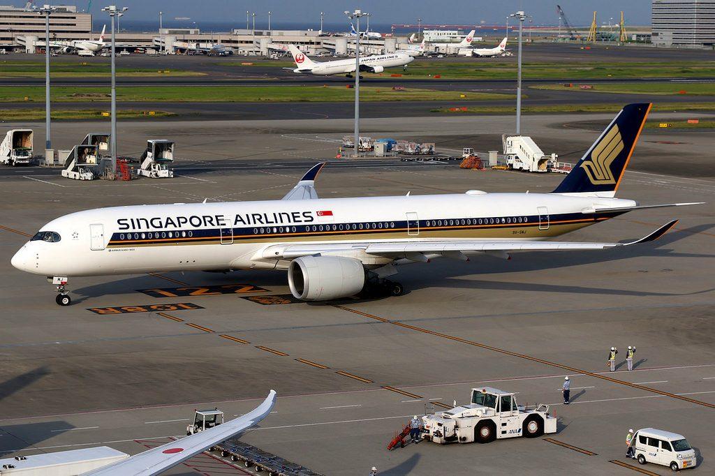 Singapore Airlines Airbus A350 900 9V SMJ Tokyo Haneda