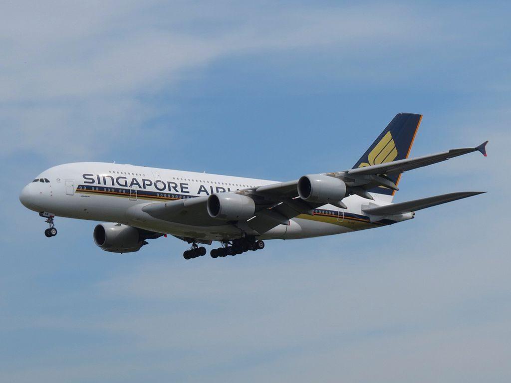 Singapore Airlines Airbus A380 841 9V SKM at at Frankfurt Airport