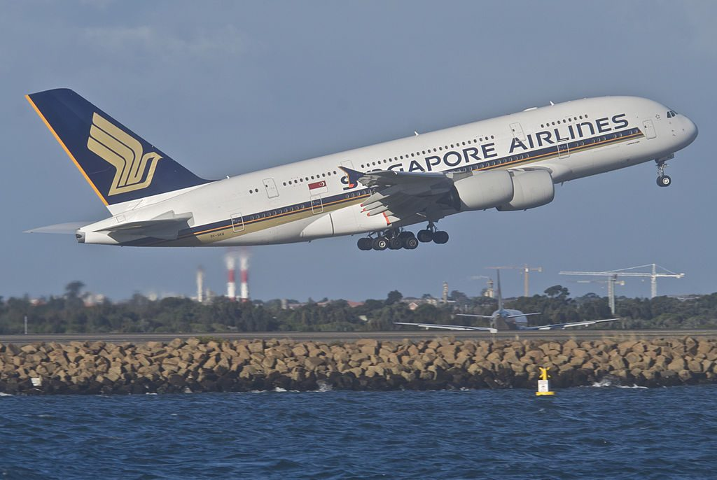Singapore Airlines Airbus A380 841 9V SKQ at Sydney Airport SYD