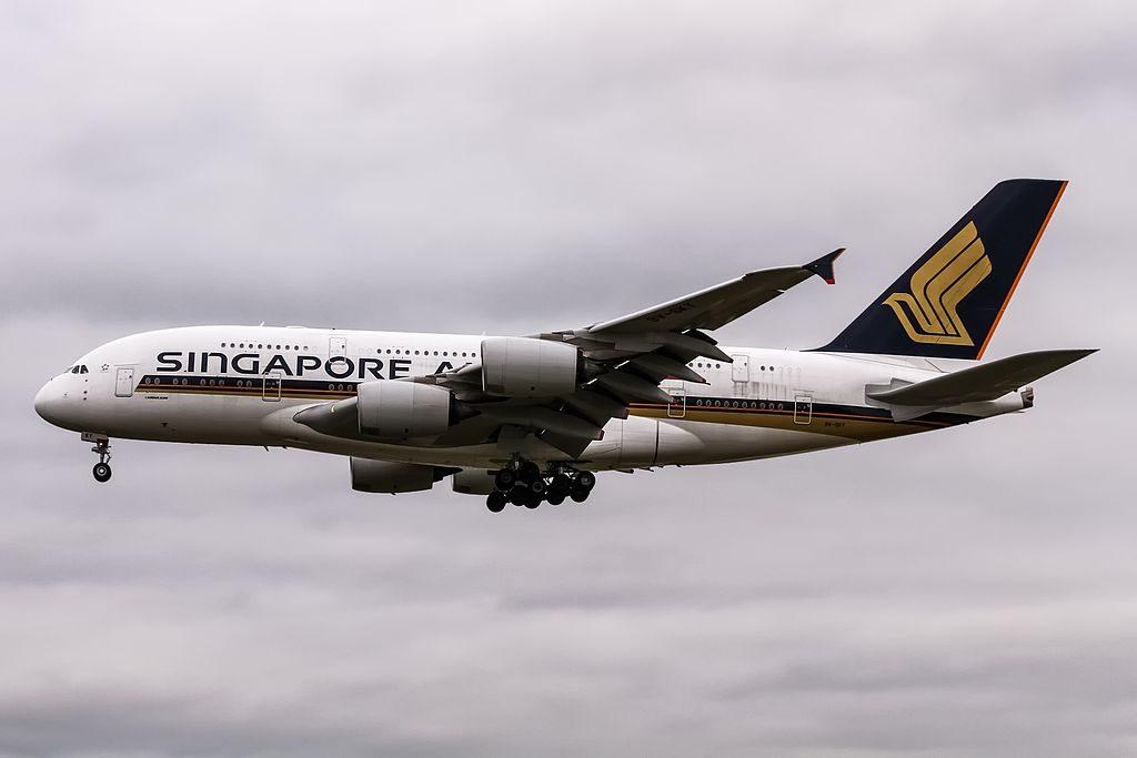 Singapore Airlines Airbus A380 841 9V SKT from New York JFK KJFK at Frankfurt EDDF