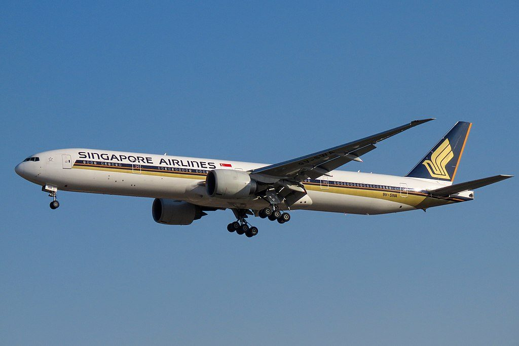 Singapore Airlines Boeing 777 300ER 9V SWA at Beijing Capital International Airport