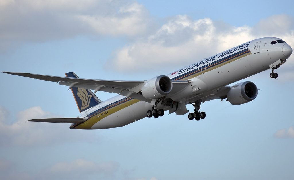 Singapore Airlines Boeing 787 10 Dreamliner 9V SCG at Dallas Fort Worth International Airport