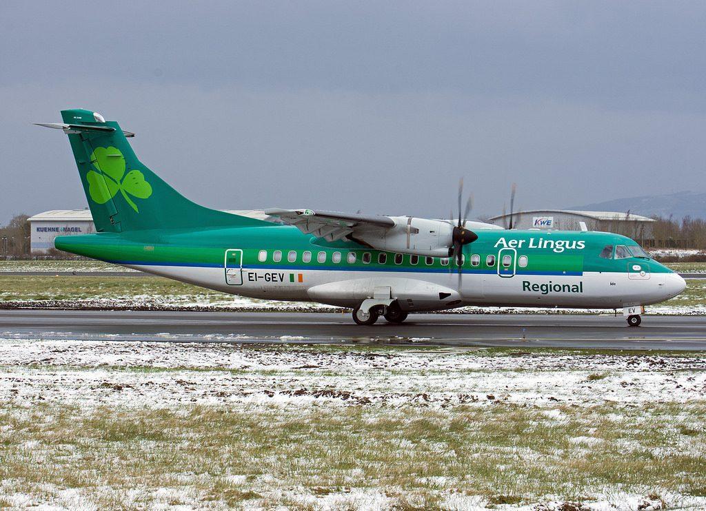 Stobart Air Aer Lingus Regional ATR42 600 EI GEV St. Ita at Dublin Airport