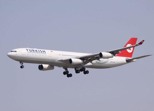 TC JDN Turkish Airlines Airbus A340 313 Adana at Beijing Capital International Airport