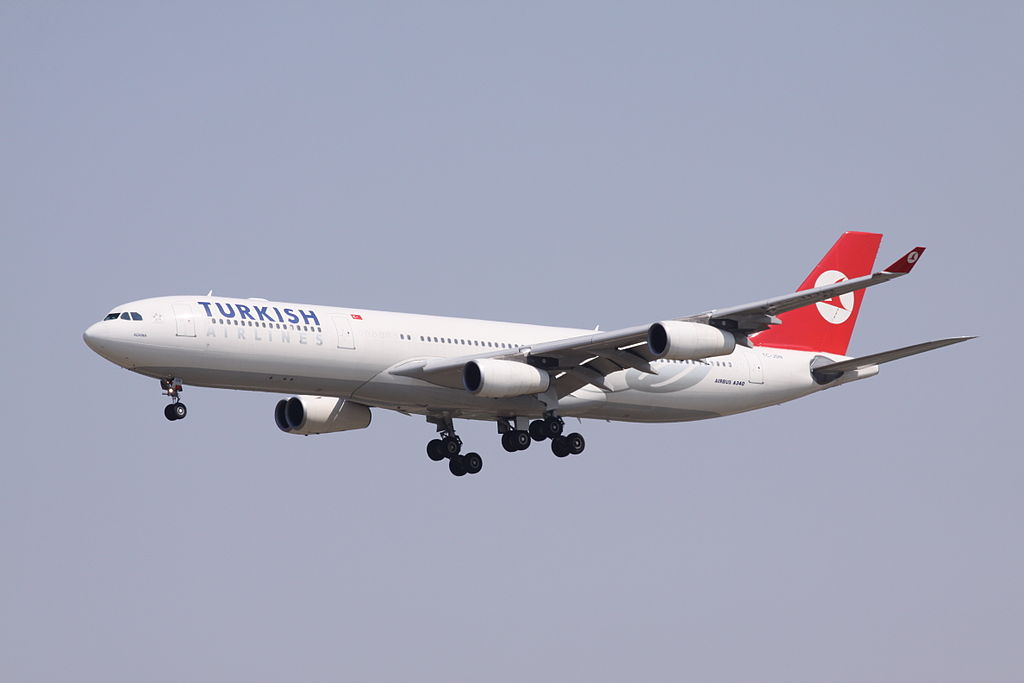 TC JDN Turkish Airlines Airbus A340 313 Adana at Beijing Capital International Airport