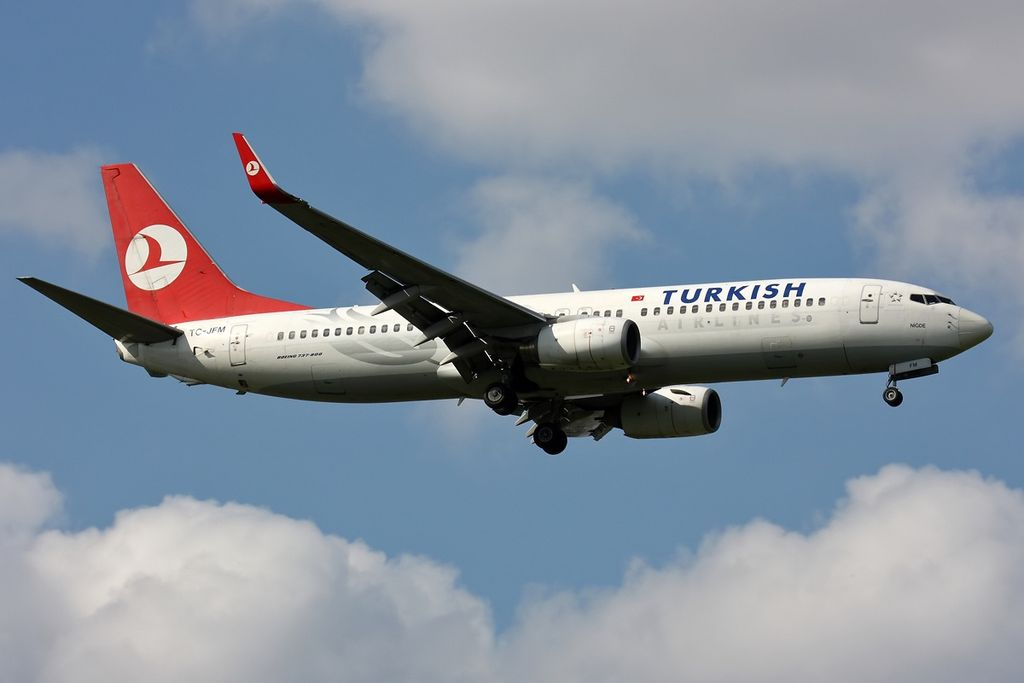TC JFM Boeing 737 8F2wl Kavacık Turkish Airlines at Pulkovo Airport