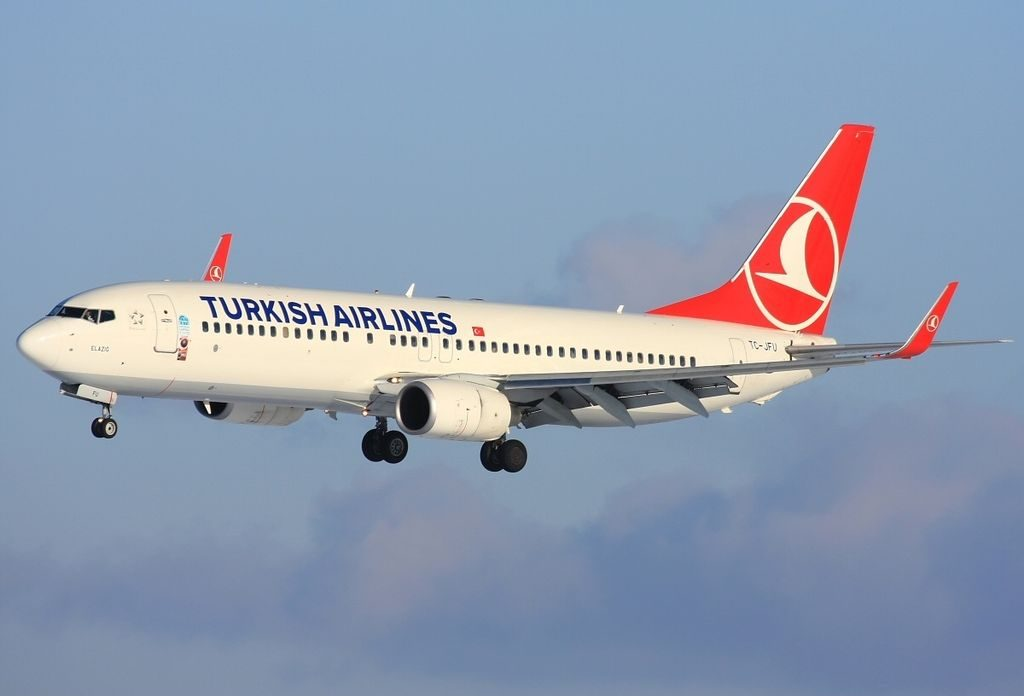 TC JFU Boeing 737 8F2WL Elazığ Turkish Airlines at Prague Ruzyně Airport
