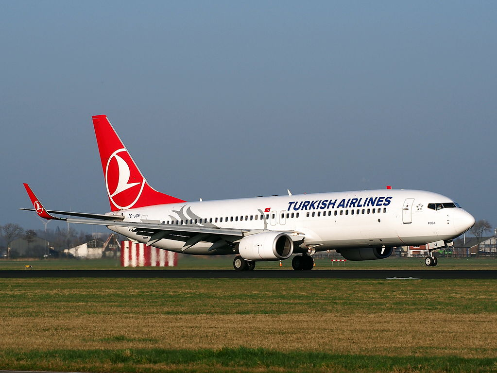 TC JGB Boeing 737 8F2WL Turkish Airlines Foça landing at AMS Amsterdam Schiphol