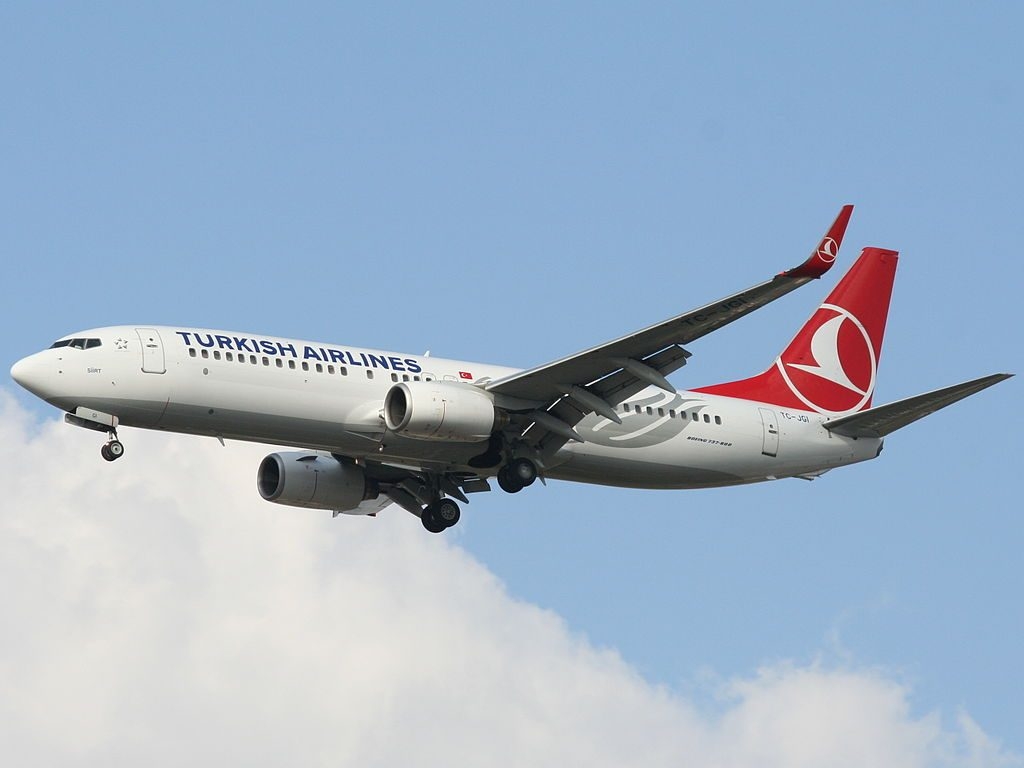 TC JGI Turkish Airlines Boeing 737 800 Siirt landing at Ben Gurion International airport