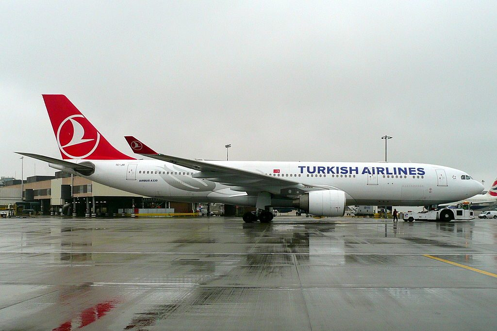 TC JIR Airbus A330 200 Çatalhöyük Turkish Airlines at London Heathrow Airport