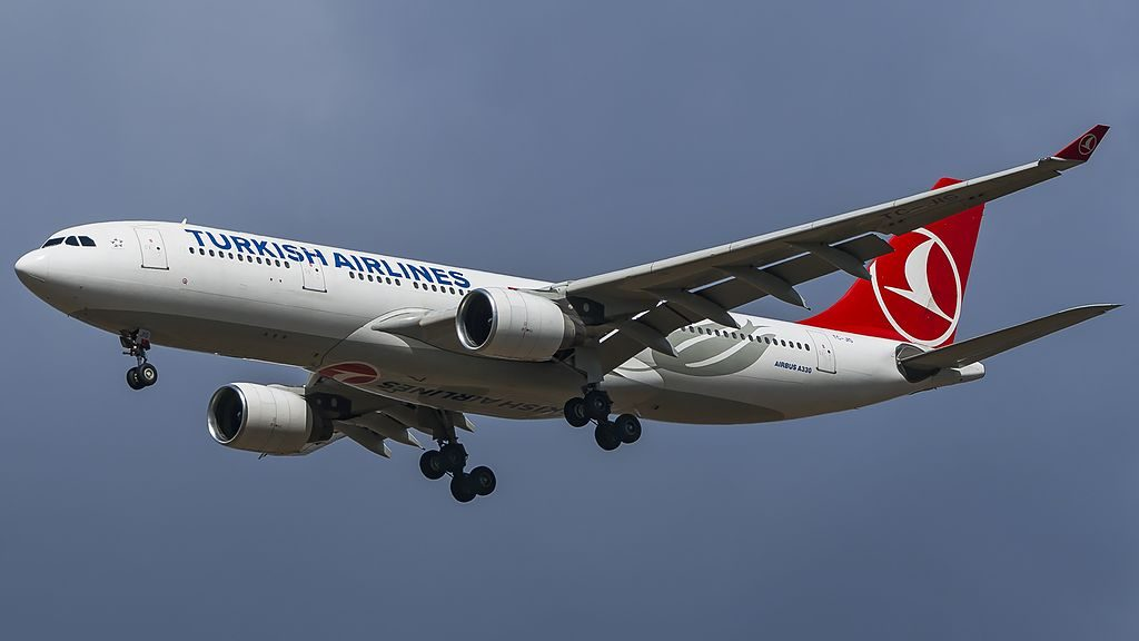 TC JIS Airbus A333 200 Turkish Airlines at Vnukovo International Airport