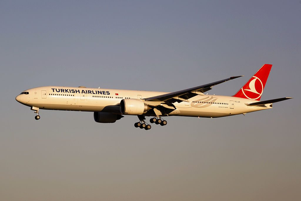 TC JJK Turkish Airlines Boeing 777 3F2ER Akdeniz at Beijing Capital International Airport