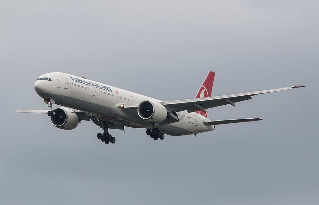 TC JJP Boeing 777 300ER Ankara of Turkish Airlines at London Heathrow Airport