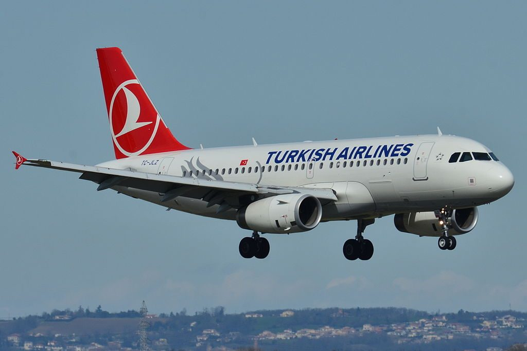 TC JLZ Airbus A319 132 Edirnekapı of Turkish Airlines at Toulouse Blagnac International Airport