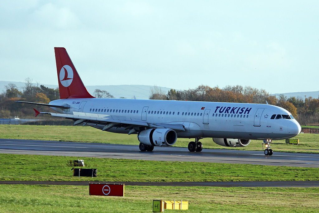 TC JMI Airbus A321 231 Turkish Airlines Milas at Manchester Airport