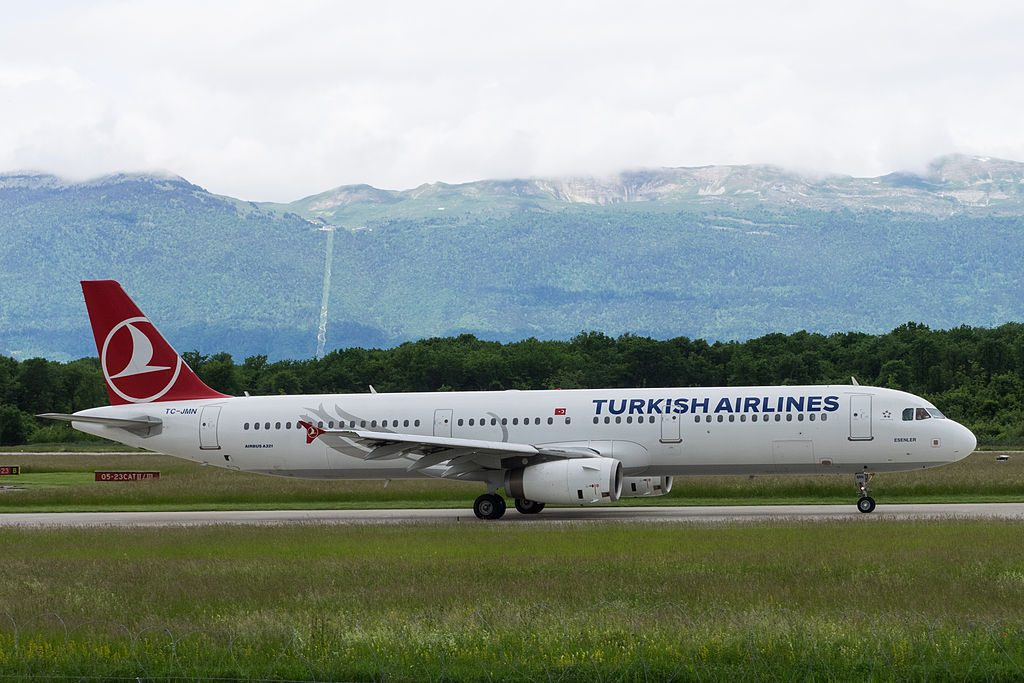 TC JMN Airbus A321 231 Esenler Turkish Airlines at Geneva International Airport