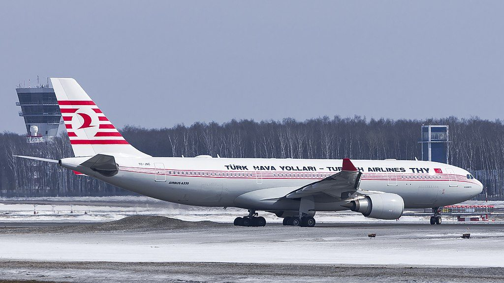 TC JNC Airbus A330 200 Kushimoto Turkish Airlines Retro livery at Vnukovo International Airport