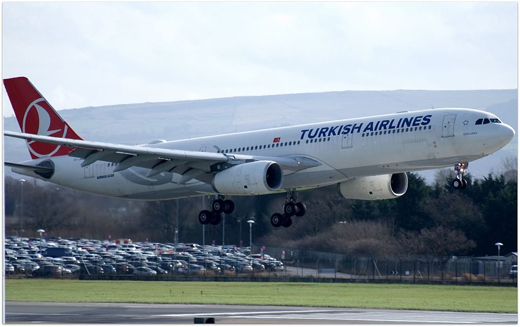 TC JNK Airbus A330 300 Şanlıurfa of Turkish Airlines at Manchester Airport