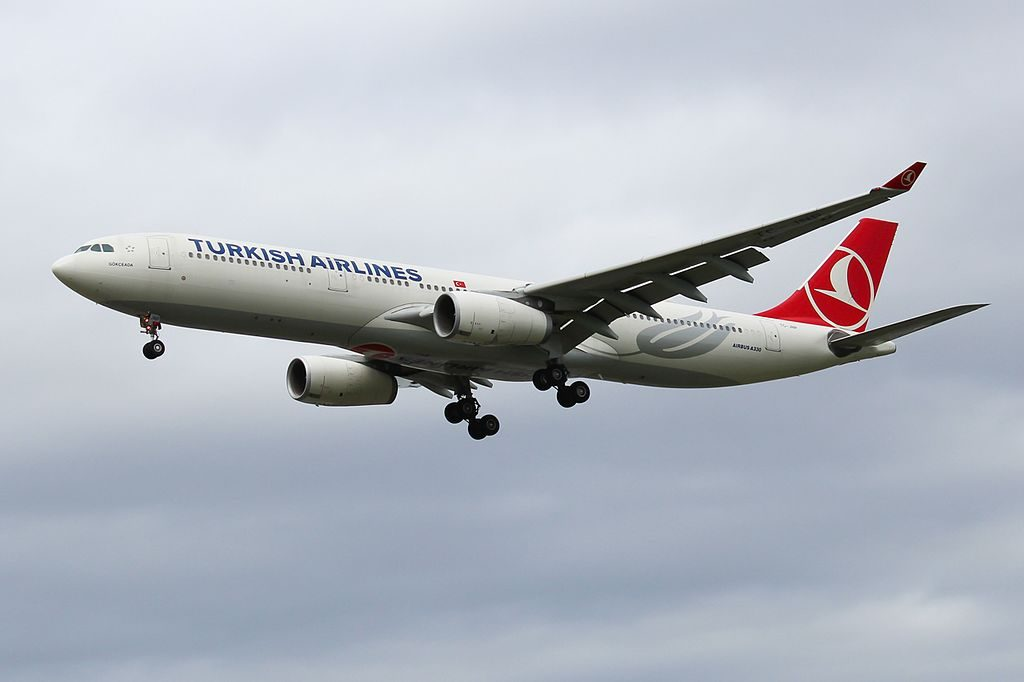 TC JNP Airbus A330 300 Turkish Airlines Gökçeada at London Heathrow Airport