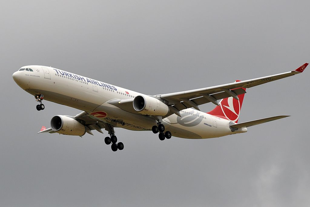 TC JNR Airbus A330 300 Haliç Golden Horn of Turkish Airlines at Paris Charles de Gaulle Airport