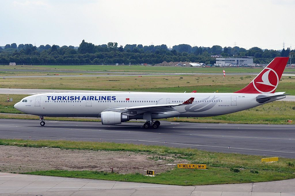 TC JNS Airbus A330 300 Hattuşaş of Turkish Airlines at Düsseldorf Airport