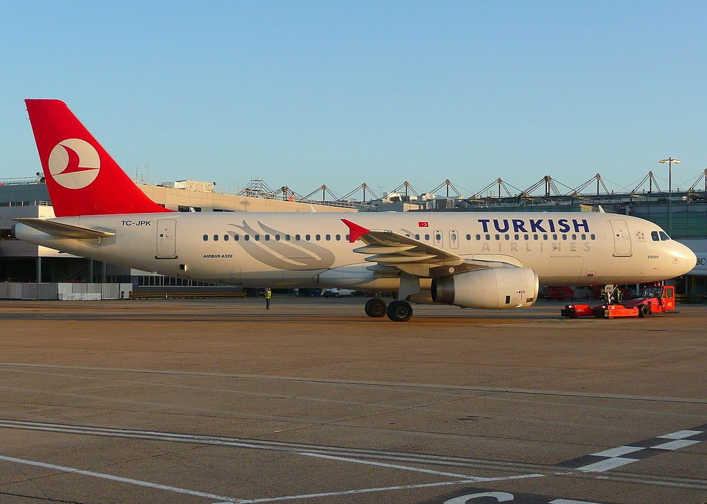 TC JPK Airbus A320 232 Erdek of Turkish Airlines at London Heathrow Airport