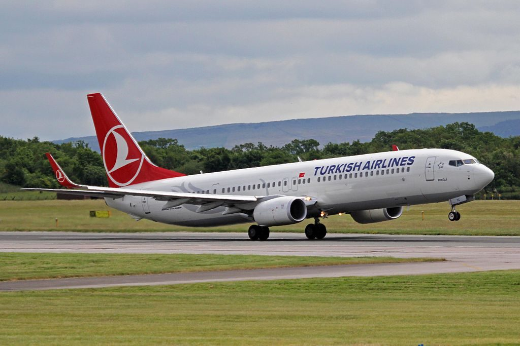 TC JYC Boeing 737 9F2ERW Ereğli of Turkish Airlines at Manchester Airport