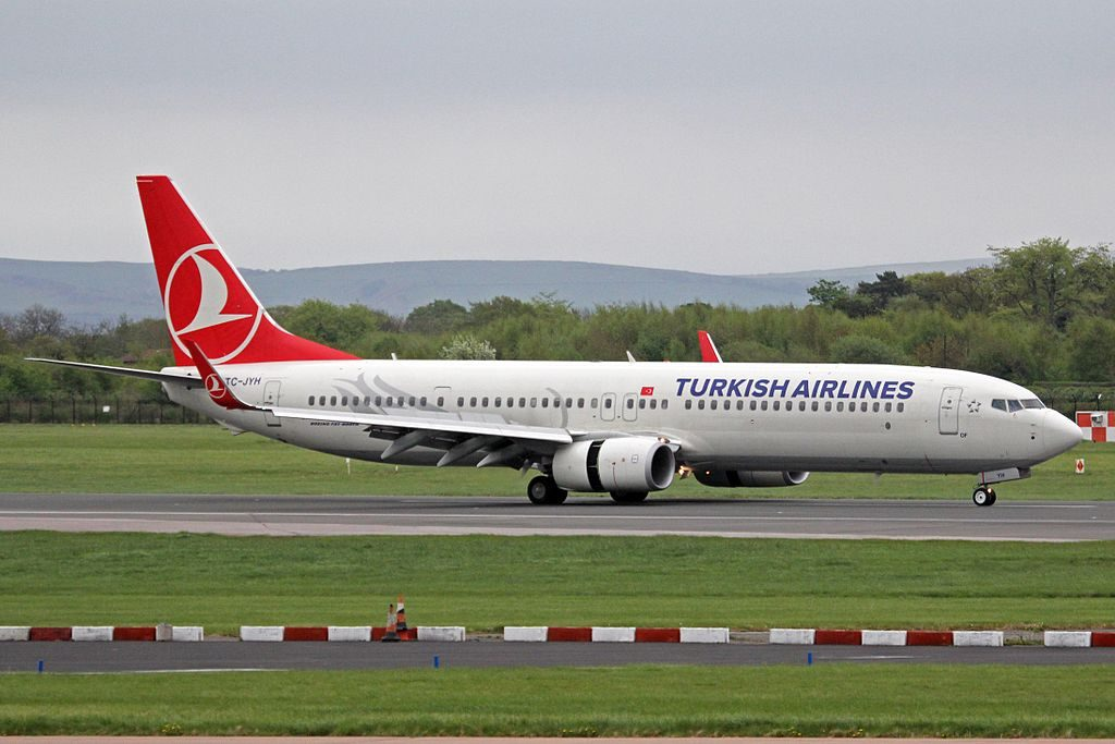 TC JYH Boeing 737 9F2ERW of Turkish Airlines Of at Manchester Airport